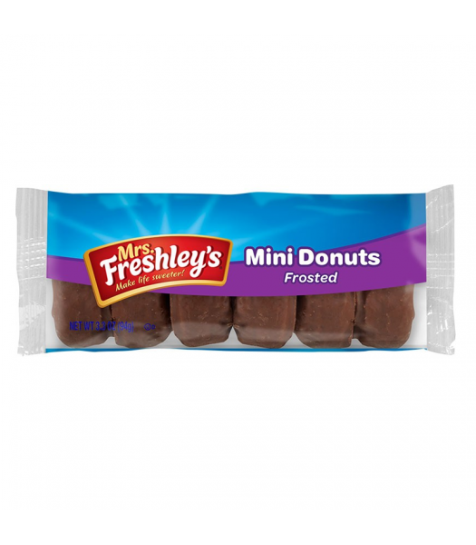 Mrs Freshley's Frosted Chocolate Mini Donuts 3.3oz (93g) Cookies and Cakes Mrs Freshley's