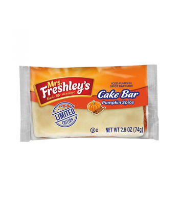 Mrs Freshley's - Pumpkin Spice Cake Bars [Limited Edition] - 2.6oz (74g) Snack Cakes Mrs Freshley's