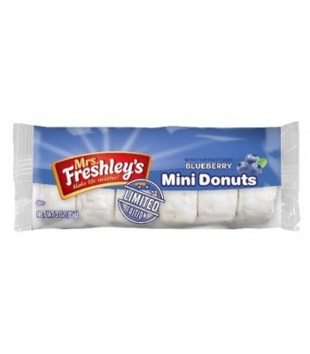 Mrs Freshley's Blueberry Mini Donuts 6 Pack 3oz (85g) Donuts Mrs Freshley's