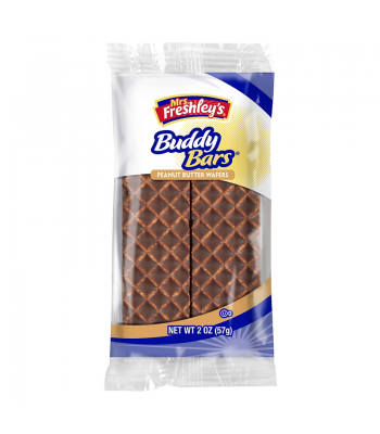 Mrs Freshley's Buddy Bar Peanut Butter Wafers Double Pack 2oz (57g) Brownies & Bars Mrs Freshley's