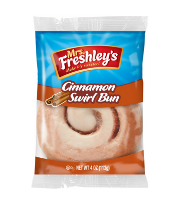 Mrs Freshley's Cinnamon Swirl Bun 4oz (113g) Cookies and Cakes Mrs Freshley's
