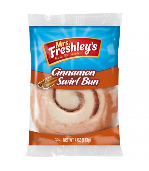 Mrs Freshley's Cinnamon Swirl Bun 4oz (113g)  Mrs Freshley's