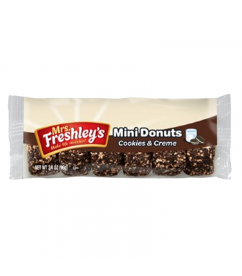 Mrs Freshley's Cookies & Creme Mini Donuts - 3.4oz (96g) Cookies and Cakes Mrs Freshley's