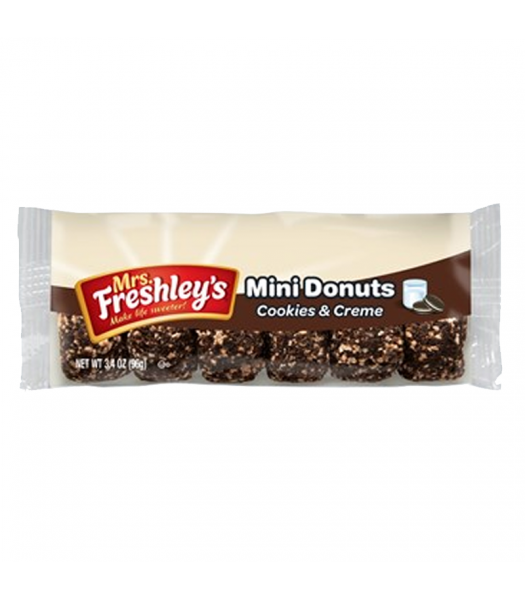 Mrs Freshley's Cookies & Creme Mini Donuts - 3.4oz (96g) Cookies and Cakes Mrs Freshley's