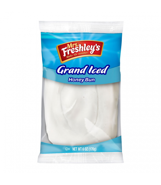 Mrs Freshley's Grand Iced Honey Bun - 6oz (170g) Cookies and Cakes Mrs Freshley's