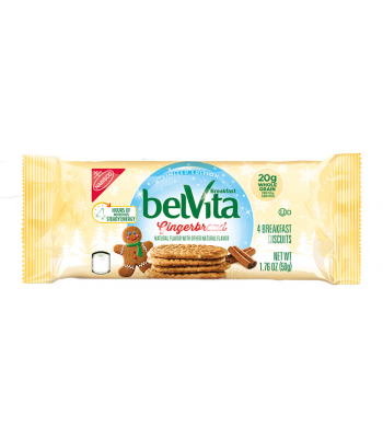 Belvita Gingerbread Breakfast Biscuits 1.76oz (50g) Cookies and Cakes