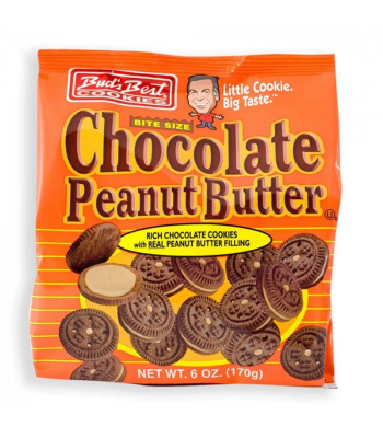 Bud's Best Cookies Bite Size Chocolate Peanut 6oz (170g) Cookies and Cakes Bud's Best