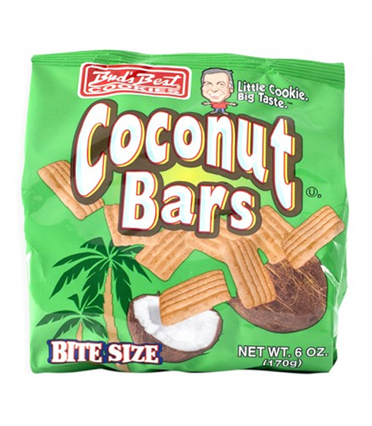 Bud's Best Cookies Bite Size Coconut Bars 6oz (170g) Cookies and Cakes Bud's Best
