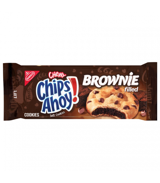 Chips Ahoy! Chewy Brownie Filled Soft Cookies - 9.5oz (269g) Cookies and Cakes Chips Ahoy