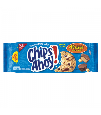Clearance Special - Chips Ahoy Reeses Peanut Butter 9.5oz ** April 2017 ** BLUE PACK ** Clearance Zone