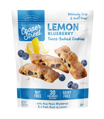 Cooper Street - Lemon Blueberry Twice-Baked Cookies - 5oz (141g) Cookies & Biscuits Cooper Street