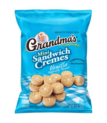 Grandma's Vanilla Mini Sandwich Cremes - 2.12oz (60g) Cookies & Biscuits Grandma's Cookies