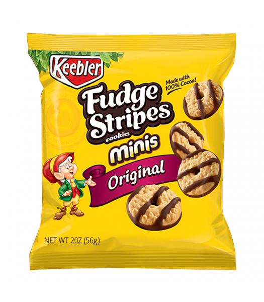 Keebler Fudge Stripes Cookies Minis Original 2oz (56g)  Cookies and Cakes Keebler
