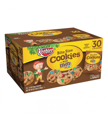 Keebler Bite Size Cookies 1.6oz (45g) - 30-Pack Box Cookies and Cakes