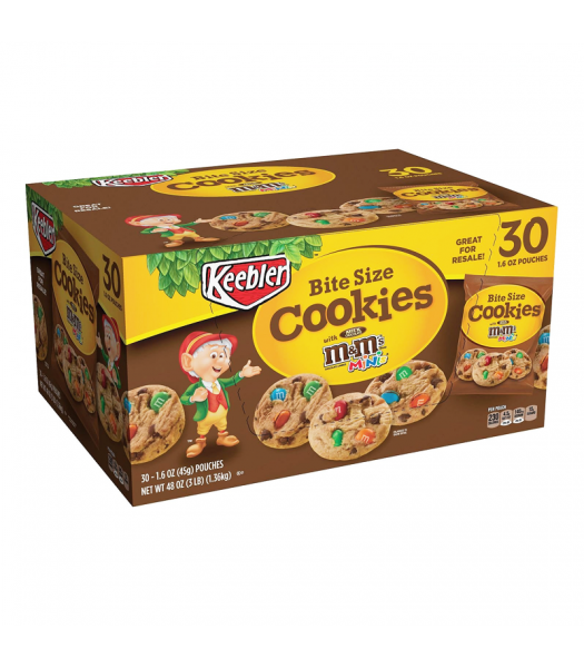 Keebler Bite Size Cookies 1.6oz (45g) - 30-Pack Box Cookies and Cakes Keebler