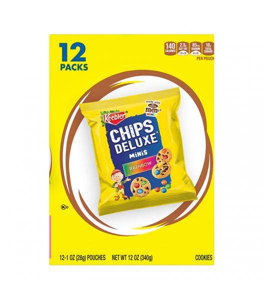 Keebler Chips Deluxe Rainbow Mini Cookies 1oz (28g) 12-Pack Cookies and Cakes Keebler