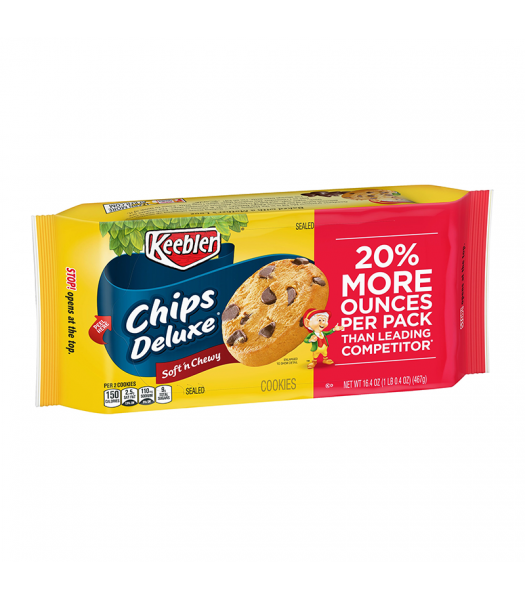 Keebler Chips Deluxe Soft N Chewy Chocolate Chip Cookies - 16.4oz (467g) Food and Groceries Keebler
