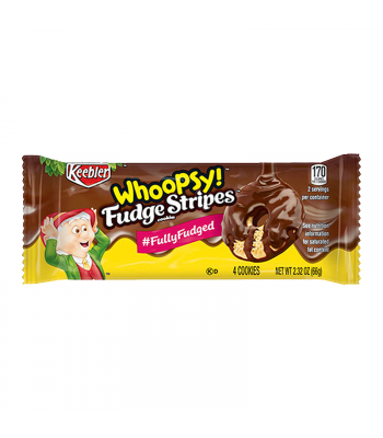 Keebler Whoopsy! Fudge Stripes Cookies 2.32oz (66g) Food and Groceries