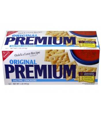 Clearance Special - Premium Original Saltine Crackers 4oz - ** Best Before February 2017 ** Clearance Zone