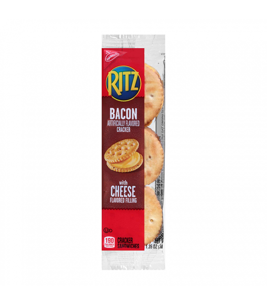 Nabisco Ritz Bacon and Cheese Sandwich Cracker 1.35oz (38g) Snacks and Chips Nabisco