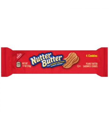 Clearance Special - Nutter Butter Cookies 4-pack 1.9oz (Best Before: 05 Apr 2016)