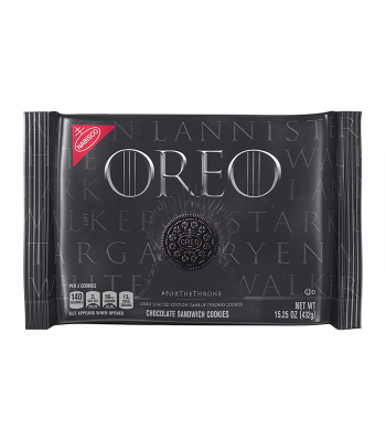 Clearance Special - Oreo Game of Thrones Limited Edition Cookies - 15.25oz (432g) **Best Before: October 19** Clearance Zone