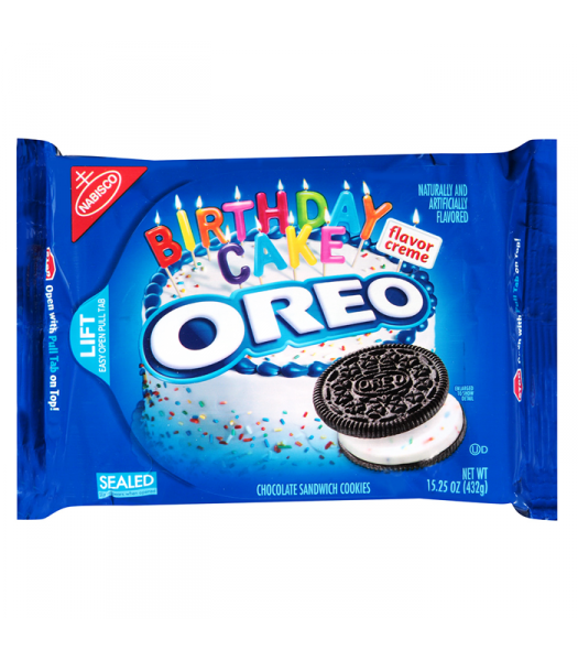 Clearance Special - Oreo Birthday Cake Cookies 15.25oz (432g) **Best Before: 27 February 20** Clearance Zone