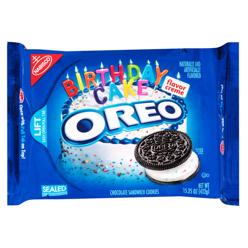 Remarkable Oreo Birthday Cake Cookies 15 25Oz 432G American Fizz Personalised Birthday Cards Petedlily Jamesorg