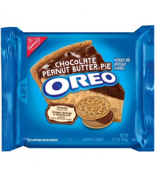 Oreo Chocolate Peanut Butter Pie Cookies 12.2oz (345g) - Limited Edition Cookies and Cakes Oreo