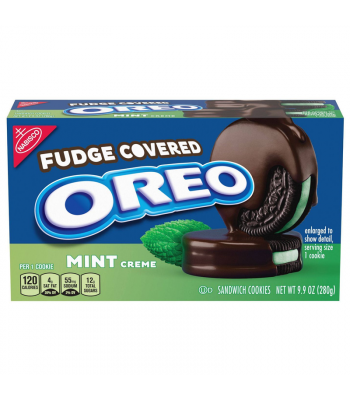 Oreo Fudge Covered Mint Creme - 9.9oz (280g) Cookies and Cakes Oreo