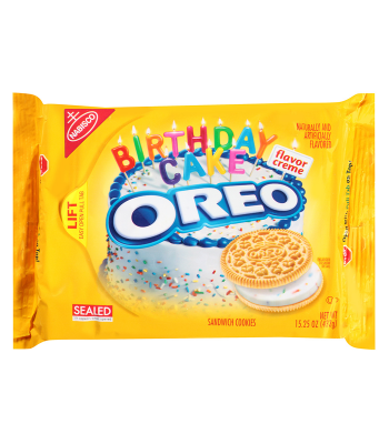 Clearance Special - Oreo Golden Birthday Cake Cookies 15.25oz (432g) ** Best Before: 24 March 2017 ** Clearance Zone