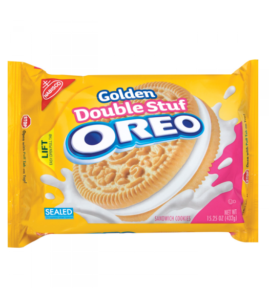 Oreo Golden Double Stuf 15.25oz (432g) Cookies and Cakes Oreo