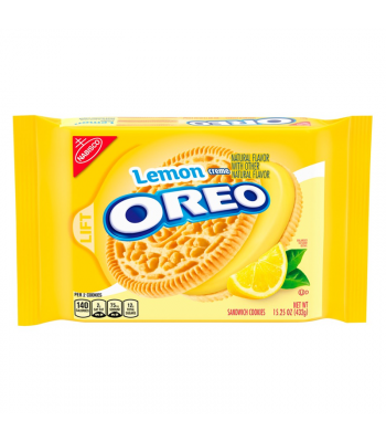 Oreo Lemon Creme - 15.25oz (432g) Cookies and Cakes Oreo