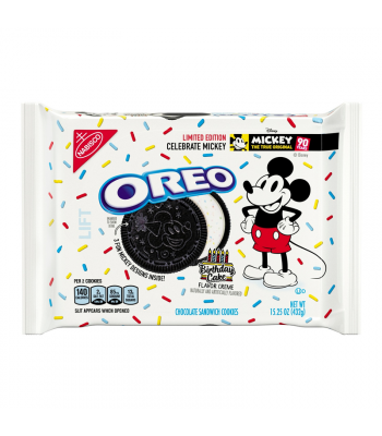 Oreo LIMITED EDITION Mickey Mouse Birthday Cake Cookies - 15.25oz (432g)  Cookies and Cakes Oreo