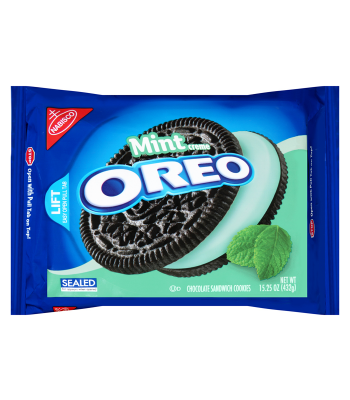 Oreo Mint Creme Sandwich 15.25oz (432g) Cookies & Biscuits Oreo