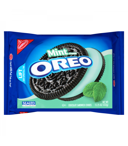 Oreo Mint Creme Sandwich - 15.25oz (432g) Cookies and Cakes Oreo
