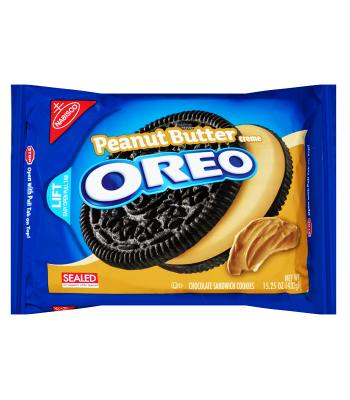 Oreo Peanut Butter Creme Sandwich 15.25oz (432g) Cookies and Cakes Oreo