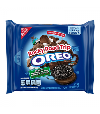Oreo Rocky Road Trip Cookies 10.7oz (303g) - Limited Edition Cookies and Cakes Oreo