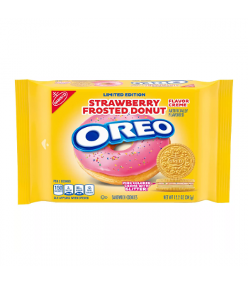 Oreo Strawberry Frosted Donut Cookies - 12.2oz (345g) Cookies and Cakes Oreo