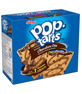 Pop Tarts - Chocolate Chip 12-Pack (6 x 2 Toaster Pastries) - 22oz (624g) Toaster Pastries Pop Tarts