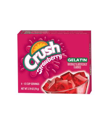 Crush Gelatin Strawberry Mix 2.79oz (79g) Jelly & Puddings Crush