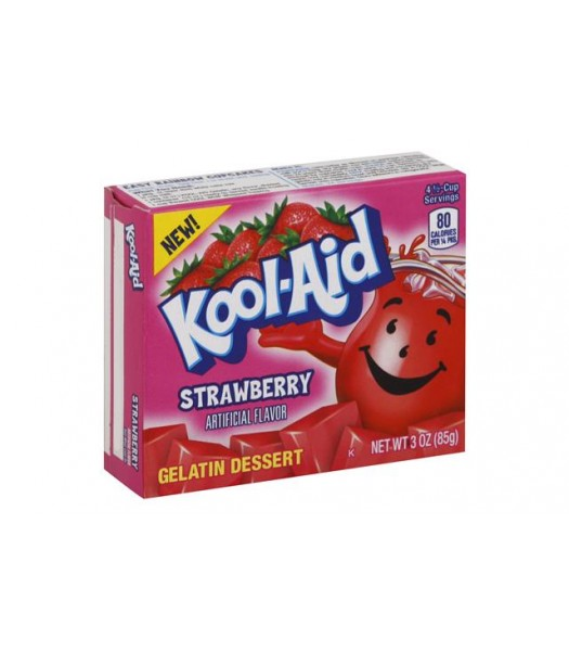 Kool Aid Strawberry Jelly Mix 3oz (85g) Jelly & Puddings Kool Aid