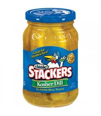 Vlasic Kosher Dill Pickle Stackers 16oz (473ml) Pickles Vlasic