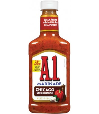 A1 Chicago Steakhouse Marinade - 454g  Sauces & Condiments A1