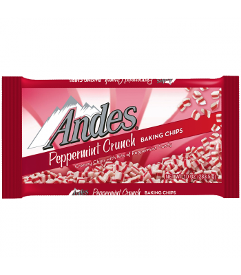 Andes Peppermint Crunch Baking Chips - 10oz (283g) [Christmas] Food and Groceries