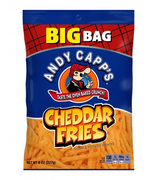 Andy Capp Cheddar Fries BIG 8oz (227g) PACK Crisps & Chips Andy Capp's