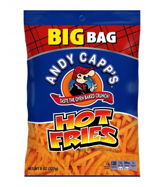 Andy Capp Hot Fries BIG 8oz (227g) PACK Crisps & Chips Andy Capp's