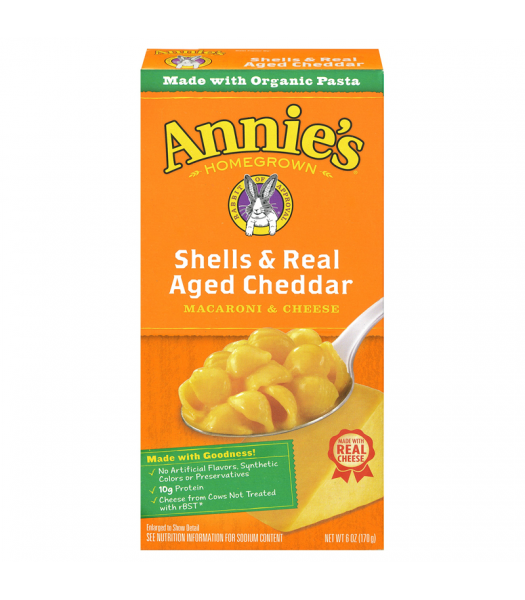 Annie's Shells & Real Aged Cheddar - 6oz (170g) Food and Groceries