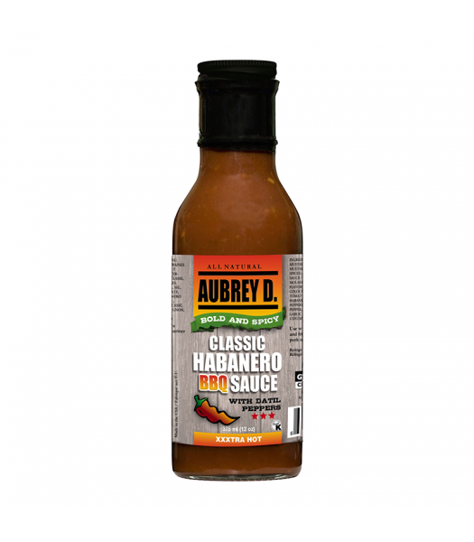 Aubrey D Classic Habanero BBQ Sauce w/ Datil Peppers (375ml) Food and Groceries Aubrey D