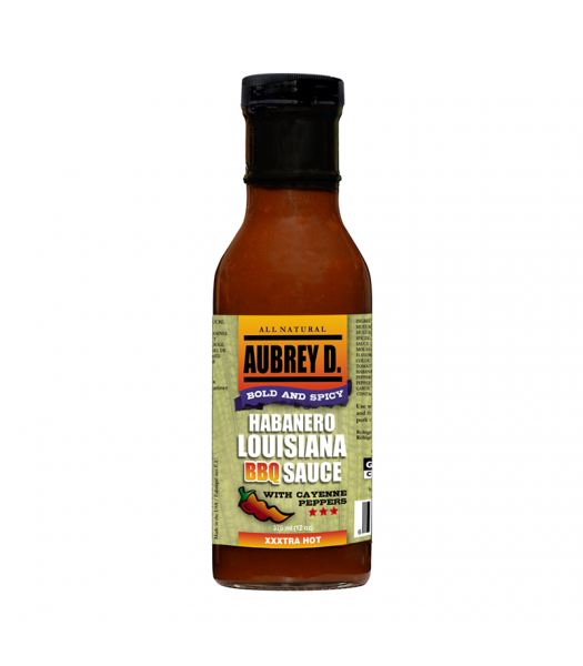 Aubrey D Habanero Louisiana BBQ Sauce (375ml) Food and Groceries Aubrey D